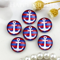 10pcs 12mm Anchor Handmade Photo Glass Cabochon GC12-848