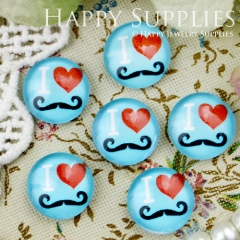 10pcs 12mm I LOVE Heart Handmade Photo Glass Cabochon GC12-332