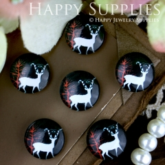 10pcs 12mm Deer Handmade Photo Glass Cabochon GC12-262