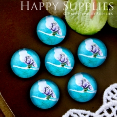 10pcs 12mm Bird Handmade Photo Glass Cabochon GC12-561
