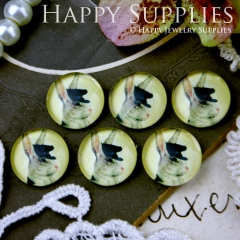 10pcs 12mm Rabbit Handmade Photo Glass Cabochon GC12-238