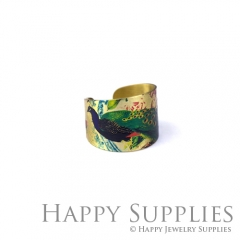 1pcs Peacock Handmade Photo Brass Ring PR045