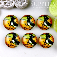 10pcs 12mm Cute Crow Handmade Photo Glass Cabochon GC12-520