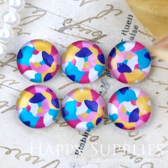 10pcs 12mm Colorful Print Handmade Photo Glass Cabochon GC12-1258