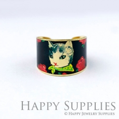 1pcs Cat Handmade Photo Brass Ring PR129