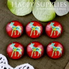 10pcs 12mm Deer Handmade Photo Glass Cabochon GC12-564