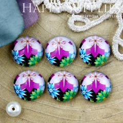 10pcs 12mm Flower Handmade Photo Glass Cabochon GC12-838