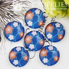 10pcs 12mm Flower Handmade Photo Glass Cabochon GC12-725