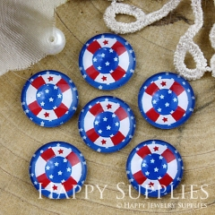 10pcs 12mm Flag Handmade Photo Glass Cabochon GC12-803