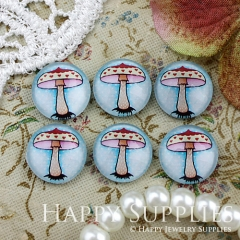 10pcs 12mm Mushroom Handmade Photo Glass Cabochon GC12-797