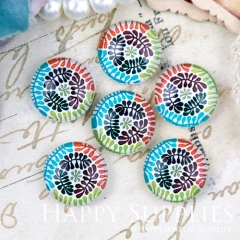 10pcs 12mm Colorful Print Handmade Photo Glass Cabochon GC12-1244