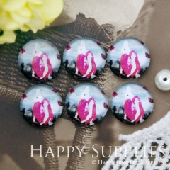 10pcs 12mm Rabbit Girl Handmade Photo Glass Cabochon GC12-1022