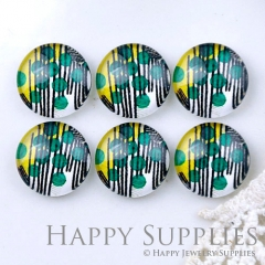 10pcs 12mm Geometric Tree Handmade Photo Glass Cabochon GC12-1173