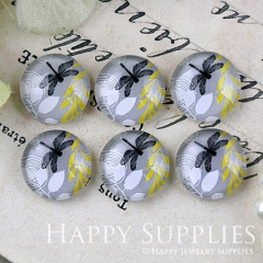 10pcs 12mm Leaves and Drangonfly Handmade Photo Glass Cabochon GC12-1232