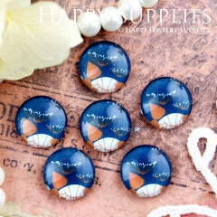 10pcs 12mm Flower Handmade Photo Glass Cabochon GC12-440