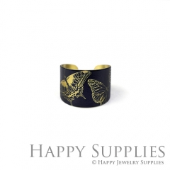 1pcs Butterfly Handmade Photo Brass Ring PR106