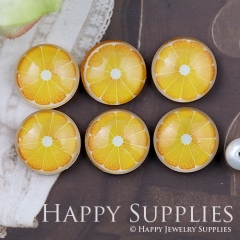 10pcs 12mm Fruit Orange Handmade Photo Glass Cabochon GC12-1107