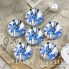 10pcs 12mm Flower Handmade Photo Glass Cabochon GC12-879