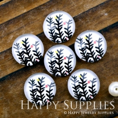 10pcs 12mm Leaf Leaves Handmade Photo Glass Cabochon GC12-1167