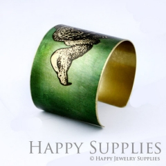 1pcs The bald eagle Handmade Photo Brass Cuff Bracelet PBC076