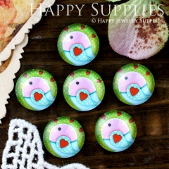 10pcs 12mm Bird Handmade Photo Glass Cabochon GC12-608