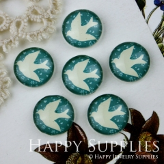 10pcs 12mm Bird Handmade Photo Glass Cabochon GC12-008