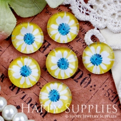 10pcs 12mm Flower Handmade Photo Glass Cabochon GC12-417