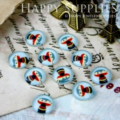 10pcs 12mm mushroom Handmade Photo Glass Cabochon GC12-198