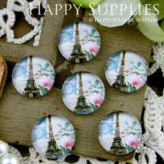10pcs 12mm Tower,Eiffel Tower Handmade Photo Glass Cabochon GC12-047
