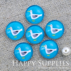 10pcs 12mm Duck Handmade Photo Glass Cabochon GC12-1157