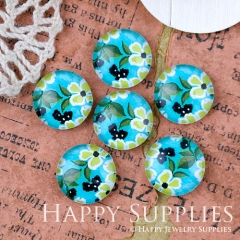 10pcs 12mm Flower Handmade Photo Glass Cabochon Glass Bead GC12-1290