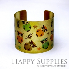 1pcs Owl Handmade Photo Brass Cuff Bracelet PBC024