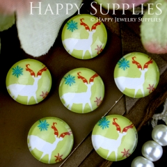 10pcs 12mm Deer Handmade Photo Glass Cabochon GC12-260