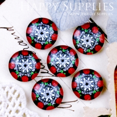 10pcs 12mm Flower Handmade Photo Glass Cabochon GC12-647