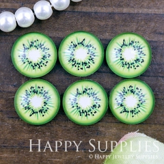 10pcs 12mm Kiwi Fruit Handmade Photo Glass Cabochon GC12-1111
