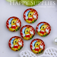 10pcs 12mm Duck Handmade Photo Glass Cabochon GC12-529