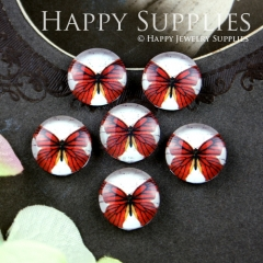 10pcs 12mm Butterfly Handmade Photo Glass Cabochon GC12-041