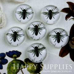 10pcs 12mm Bee Handmade Photo Glass Cabochon GC12-101