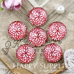 10pcs 12mm Flower Handmade Photo Glass Cabochon GC12-887