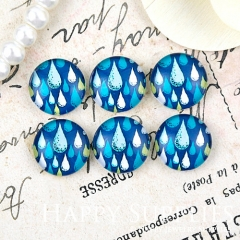 10pcs 12mm Teardrop Handmade Photo Glass Cabochon Glass Bead GC12-1287