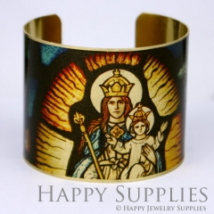 1pcs Sacred Handmade Photo Brass Cuff Bracelet PBC038