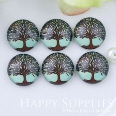 10pcs 12mm Tree Handmade Photo Glass Cabochon GC12-1134