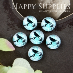 10pcs 12mm Bird Handmade Photo Glass Cabochon GC12-061