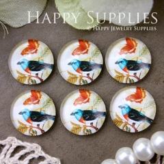 10pcs 12mm Bird Handmade Photo Glass Cabochon GC12-568