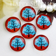 10pcs 12mm Tree Handmade Photo Glass Cabochon GC12-706