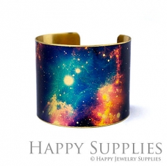 1pcs Starry sky Handmade Photo Brass Cuff Bracelet PBC108