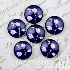 10pcs 12mm Flower Handmade Photo Glass Cabochon GC12-1169