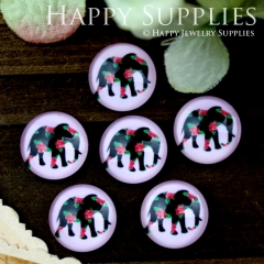 10pcs 12mm Elephant Handmade Photo Glass Cabochon GC12-851