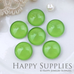 10pcs 12mm Green Handmade Photo Glass Cabochon GC12-1061