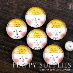 10pcs 12mm Lovely doll Handmade Photo Glass Cabochon GC12-1193